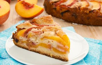 Летний персиковый пирог превью